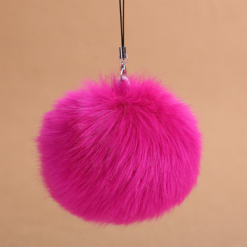 Fashion Faux Rabbit Fur Ball Pom Pom Keychain For Women Bag Charm Key Ring Trinket For Phone Car Wedding Jewelry Gift Souvenirs