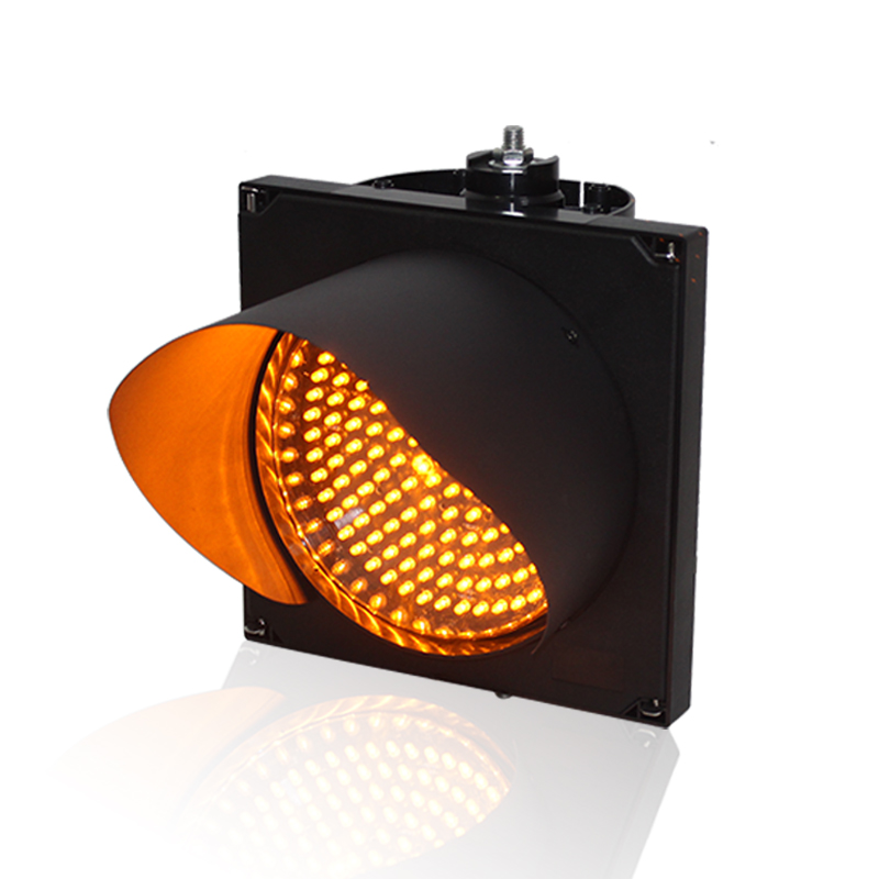AC85-265V 200mm Yellow Single LED Light High Brightness Traffic Signal Light For Sale