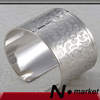 Wholesale Silver Leopard Lines Open Style Napkin Ring Round Chinese Ancient Printing Napkin Holders Wedding Resturant Goods