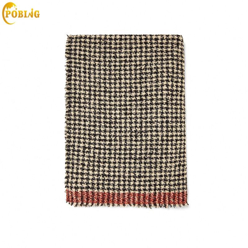 POBING New za Winter   Scarf   Women Red Plaid Cashmere   Scarves     Wraps   Thicken Wram Shawls Female Blanket   Scarf   Lady Poncho