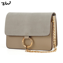 ZIWI Brand Patchwork Chain Handbag Suede&PU Leather Top Quality Fashion Women Bags ATB223