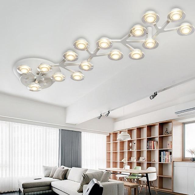 Moderno led luces de techo blanco cálido diseño cocina lámparas ...
