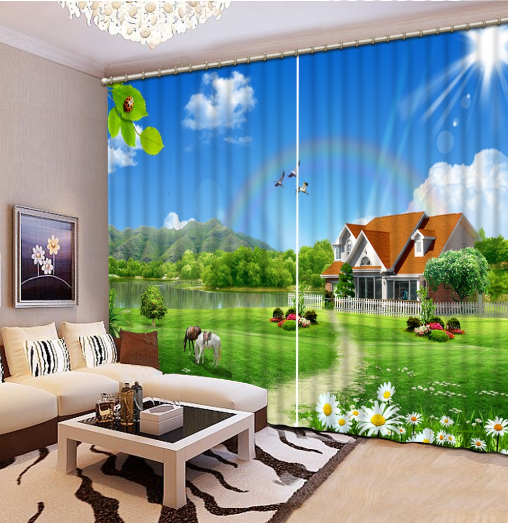 Scenery Curtains online get cheap bedroom scenery curtains -aliexpress