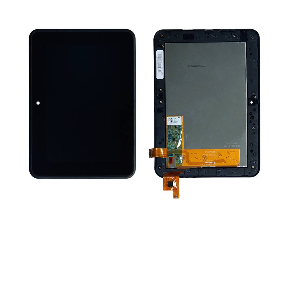 For 2012 Amazon Kindle Fire HD 7 Touch Screen Digitizer Lcd Display Assembly With Frame Replacement Free Shipping free shipping lcd display panel screen monitor digitizer glass touch lens assembly with frame for amazon kindle fire hd 7