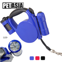 The New Easy Style Christmas Puppy Small Medium Large Dog Leash Slide Fastener Retractable Dog Leash