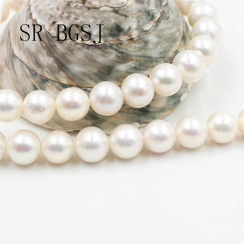 Free Shipping 9-10mm High Quality 5A Grade White Natural Freshwater Round Pearl DIY Beads Strand 15Free Shipping 9-10mm High Quality 5A Grade White Natural Freshwater Round Pearl DIY Beads Strand 15