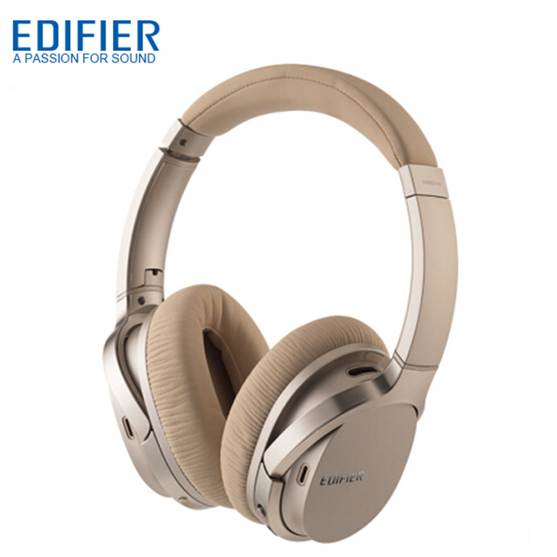 EDIFIER W860NB Bluetooth Headphones ANC Active Noise Cancelling Headphone Wireless Over Ear Bluetooth 4.1 Touch Control Headset-in Bluetooth Earphones & Headphones from Consumer Electronics    1