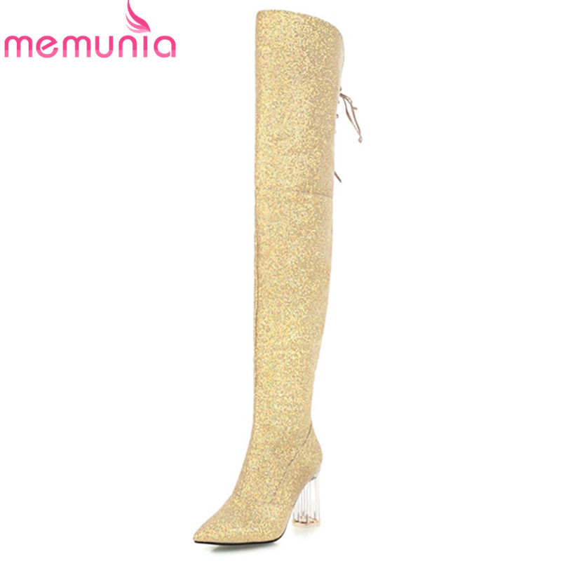 MEMUNIA 2018 new arrival thigh high over the knee boots women top quality high heels boots zip fashion long boots shoes woman jamiroquai jamiroquai the return of the space cowboy 2 lp 180 gr