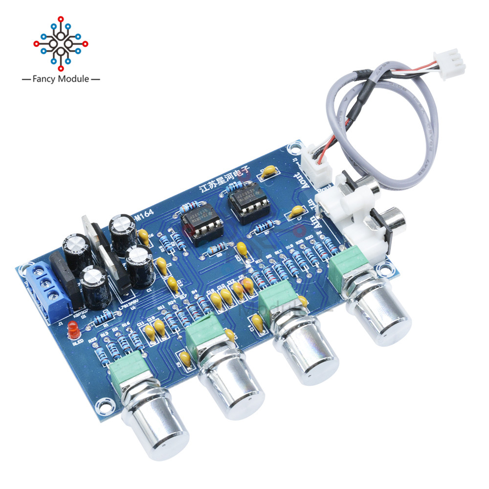 NE5532 Stereo Pre-amp Preamplifier Tone Board Audio 4 Channels 12-24V AC Amplifier Module ne5532 stereo pre amp preamplifier tone board audio 4 channels 12 24v ac amplifier module