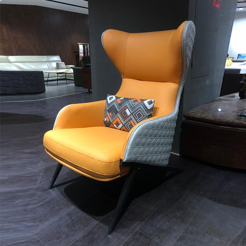 Luxe Lounge Stoel.Light Luxury Single Sofa Chair Modern Living Room Lounge Chair