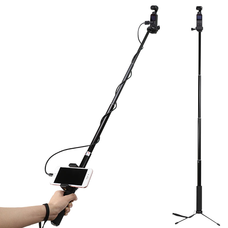Selfie Stick Tripod Set For DJI OSMO Pocket Handheld Gimbal Cable For Type-c IOS Android Phone Phone Clip Module Extension Pole