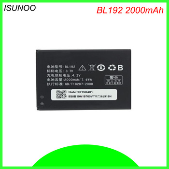 ISUNOO BL192 BL 192 BL-192 Battery For Lenovo A300 A750 A328 A328T A526 A388T A529 A680 A590 A560 A505E Mobile Phone Battery image