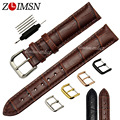 Men Women Black Or Brown Genuine Leather Watch BANDS Straps Watchband Watchbands Belt Mens Watches Relojes Hombre 2017 ZL02