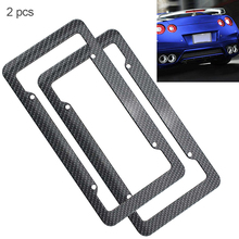 2pcs Universal Carbon Fiber Style Car License Plate Box Waterproof stickers automobile car accessories hot selling