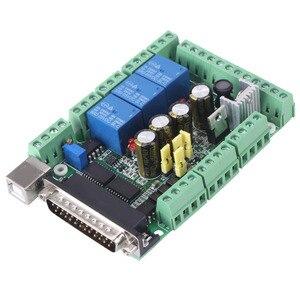 Image 3 - 4 axls 6 axls Cnc Breakout Board Cnc Graveermachine Breakout Board Voor Stappenmotor Driver MACH3V2.1 L Interface Adapter