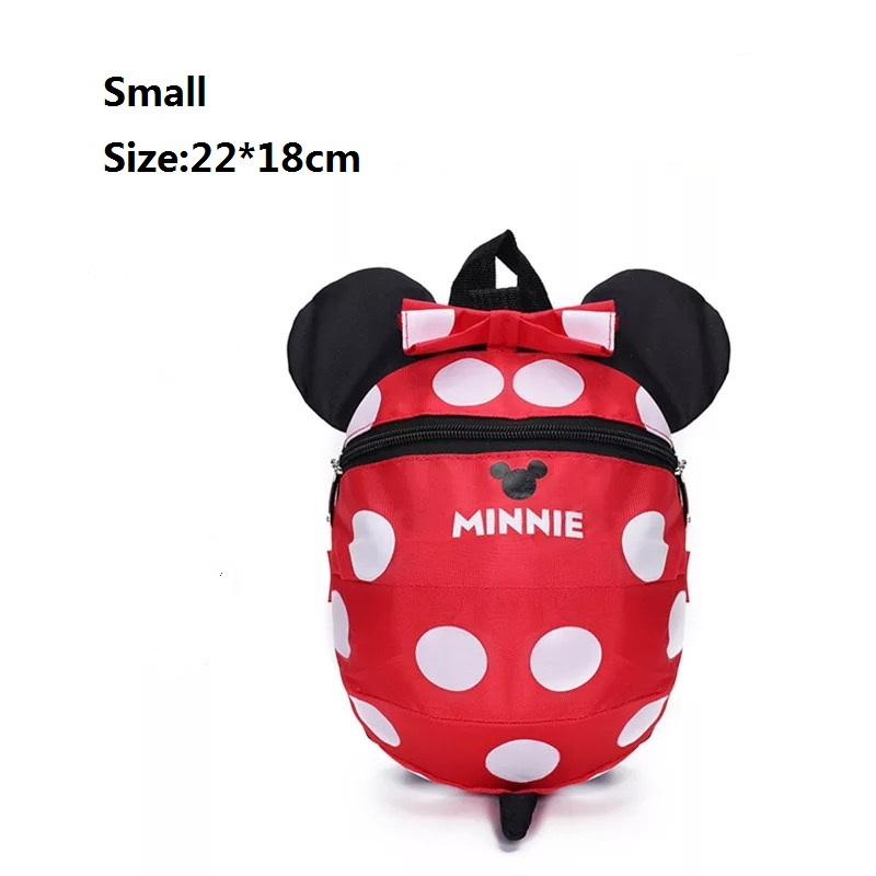 0d9dbaf23db1 Dropwow Cartoon Minnie Mickey Children Backpacks Kids kindergarten ...
