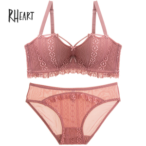 Image 5 - Roseheart Women Fashion Red Sexy Lingerie Sets Wireless Lace Cotton Panties Padded Bras Push Up Bra Sets Underwear A B 36 38
