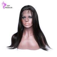 Топ Премиум волос 13X6 Синтетические волосы на кружеве натуральные волосы парики прямо натуральные волосы 150% парики плотности для черный Для