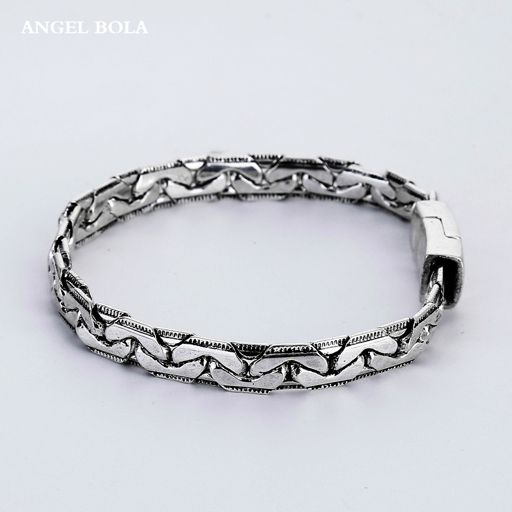 Brazalet High Quality Ancient Silver Mens Jewelry Wristbands Band Lover Gifts Buddha Bracelets Accessory Women Bangle B1207-5Y