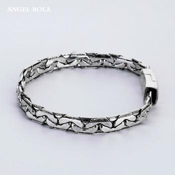 fce57e9091f2 Brazalet de alta calidad plata antigua joyería para hombre pulseras banda  amante regalos Buda pulseras accesorios mujeres brazalete B1207-5Y