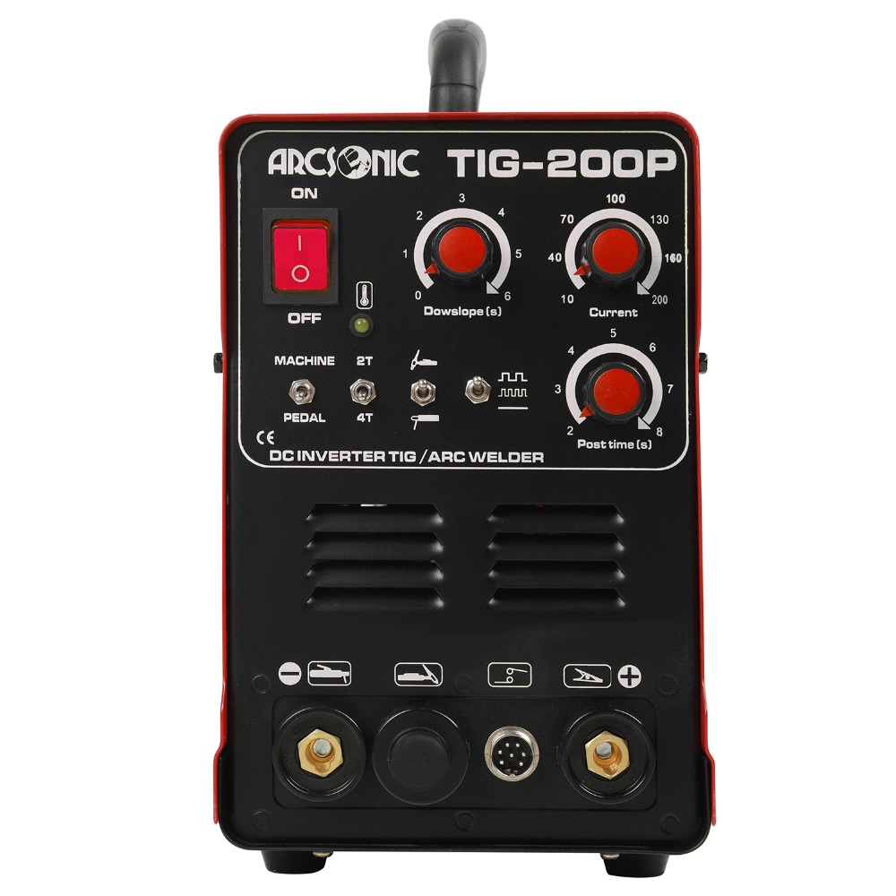 TIG200P Pluse 200 Amps ARC TIG Puls Wig-schweißen Maschine Multi Funktion TIG200P Tragbare Inverter TIG Schweißer Argon schweißen