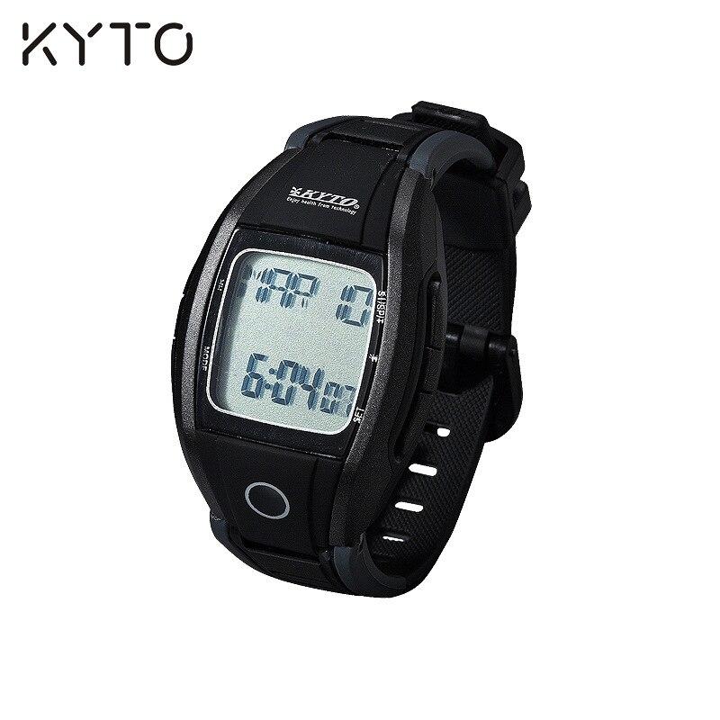 KYTO Pulse Heart Rate Monitor Pedometer Watch Wrist Watch Wristband Calories Steps Counter Stopwatch font b