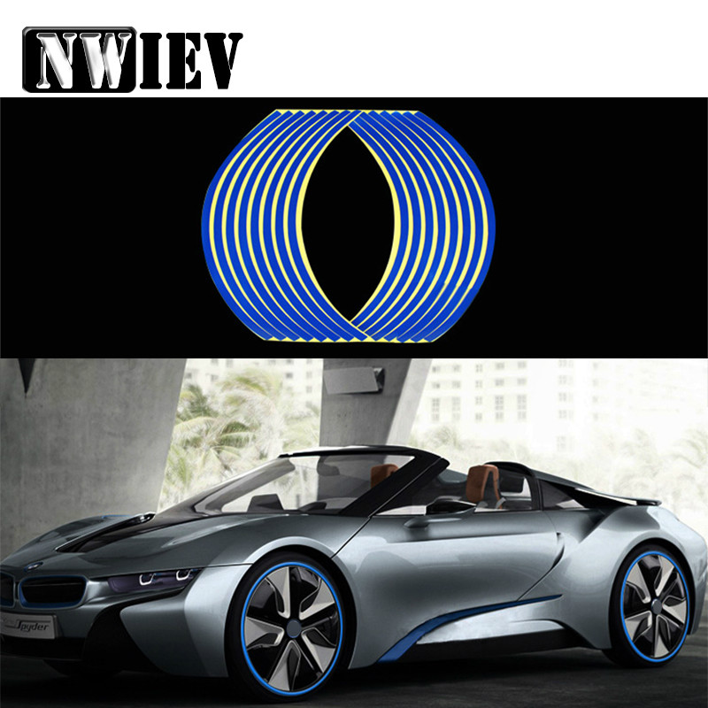 NWIEV 16pcs Car Wheel Stickers Decals 14