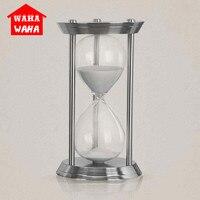 European Metal Hourglass Timer Clock Sand Metal+glass Decorative Sand Hourglasses Sand Sand Timer for Desktop Decoration
