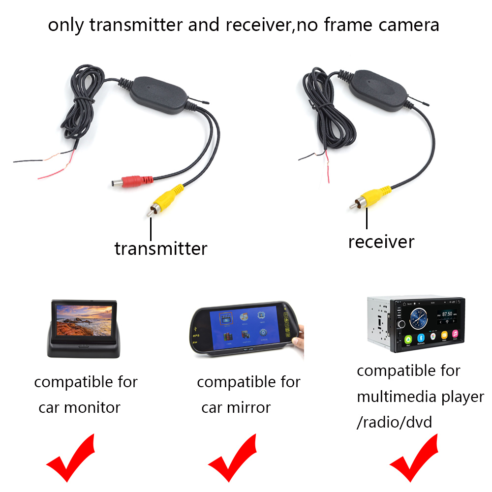 2.4G Wireless Car Camera Video Transmitter And Receiver For Wireless Car Camera