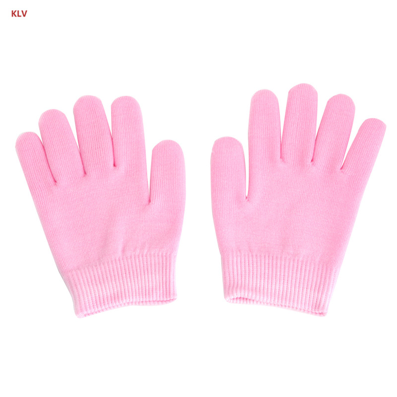 KLV 1 Pair SPA Hand Spa Moisturising Gel Whiten Skin Gloves Mask Dry Hard Skin Care title=