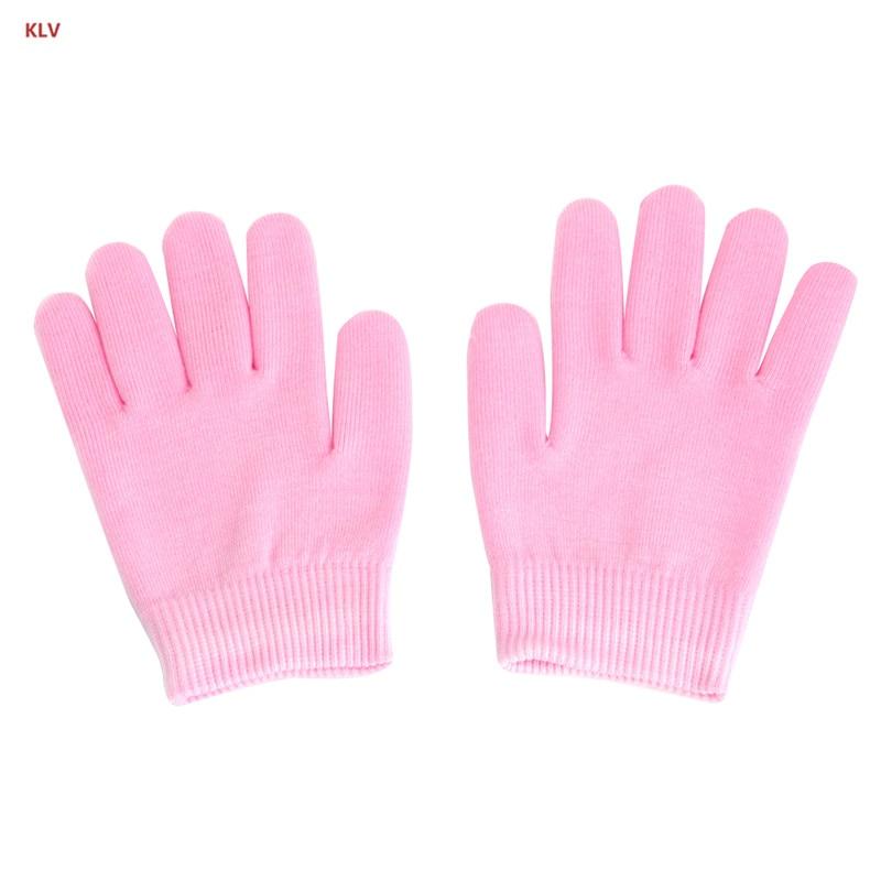 KLV 1 Pair SPA Hand Spa Moisturising Gel Whiten Skin Gloves Mask Dry Hard Skin Care