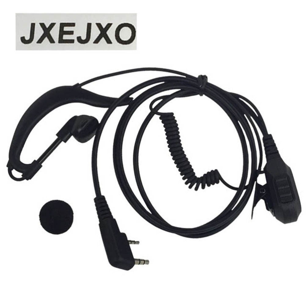 bilder für Jxejxo neue 2 pin g-form-ohrhörer headset für kenwood baofeng uv5ra tyt md-380 wouxun kg-uv6dtwo 2-wege-radio großhandel