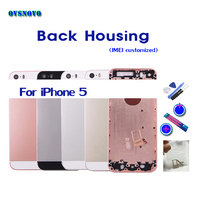 For IPhone 5 Back Housing Battery Cover Middle Frame Chassis Coque Fundas LOGO Buttons Sim Tray