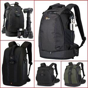 Image 1 - Orijinal Lowepro Flipside serisi 300AW 400AW 400 II AW 500AW dijital SLR fotoğraf makinesi fotoğraf çantası sırt çantaları + tüm hava kapak nikon için