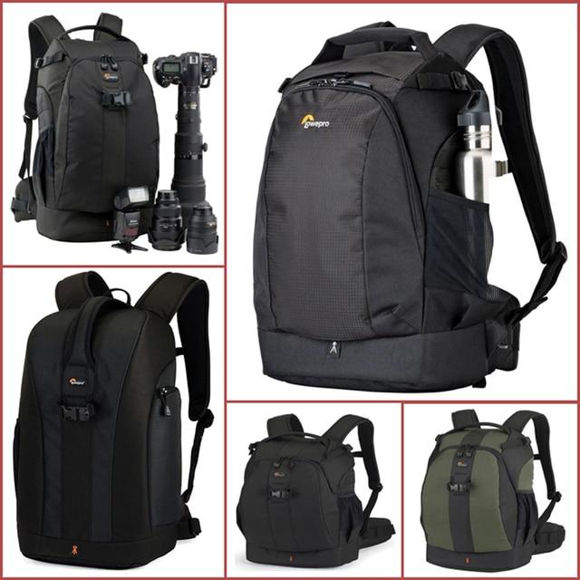 Orijinal Lowepro Flipside serisi 300AW 400AW 400 II AW 500AW dijital SLR fotoğraf makinesi fotoğraf çantası sırt çantaları + tüm hava kapak nikon için