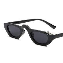 b5827d82376 AFOFOO Women Cat Eye Sunglasses Small Frame Metal Ring Steampunk Sun Glasses  UV400