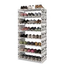 Модные 9 Слои многофункциональная полка для обуви нетканом полотне железный металлический шкаф для хранения обуви книжная полка для хранения игрушек