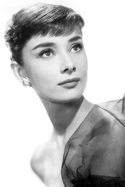 DIY marco Audrey Hepburn movie star arte carteles y Impresión de ...