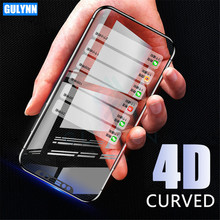 Upgrade 4D Screen Protector For Huawei P10 P20 Lite Pro Tempered Glass For Honor 6X 6C A 7X 8 9 Lite Full Cover Protective Glass protective glass red line for huawei honor 6c pro full screen 3d white