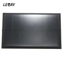 LEORY بالجملة 5 فولت 1.25 واط 250mA لوحة طاقة شمسية أحادية السيليكون الايبوكسي لتقوم بها بنفسك الخلايا الشمسية وحدة لشحن بطارية الهاتف الخلوي