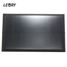 LEORY Wholesale 5V 1.25W 250mA Solar Panel Monocrystalline Silicon Epoxy DIY Solar Cells Module For Cellphone Battery Charger