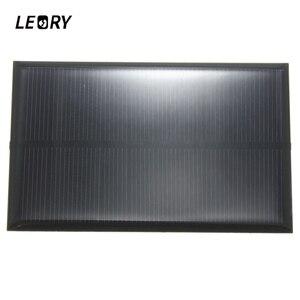Image 1 - LEORY hurtownie 5V 1.25W 250mA Panel słoneczny krzem monokrystaliczny epoksydowa DIY ogniwa słoneczne modułem do bateria do telefonu komórkowego ładowarka