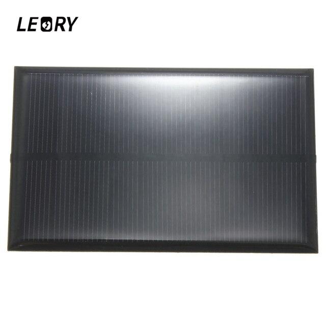 LEORY hurtownie 5V 1.25W 250mA Panel słoneczny krzem monokrystaliczny epoksydowa DIY ogniwa słoneczne modułem do bateria do telefonu komórkowego ładowarka