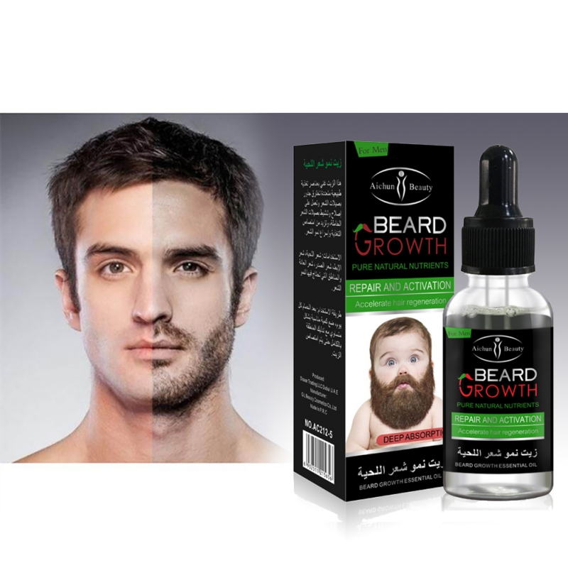 100% Natural Organic Beard Oil Beard Wax balm Hair Loss Products Leave-In Conditioner for Groomed Beard Growth New 4