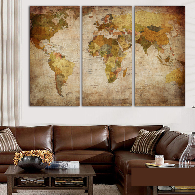 Fashion hd print clear world map template on canvas for office fashion hd print clear world map template on canvas for office living room home decoration art publicscrutiny Images