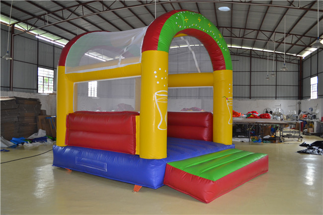 Commercial Inflatable Bouncing House , Inflatable Jumper commercial sea inflatable blue water slide with pool and arch for kids