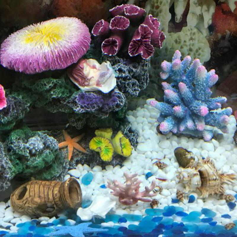 Fish & Aquariums Aquarium Fish Tank Resin Ornament Decor Artificial Decorations Accessories Decorations