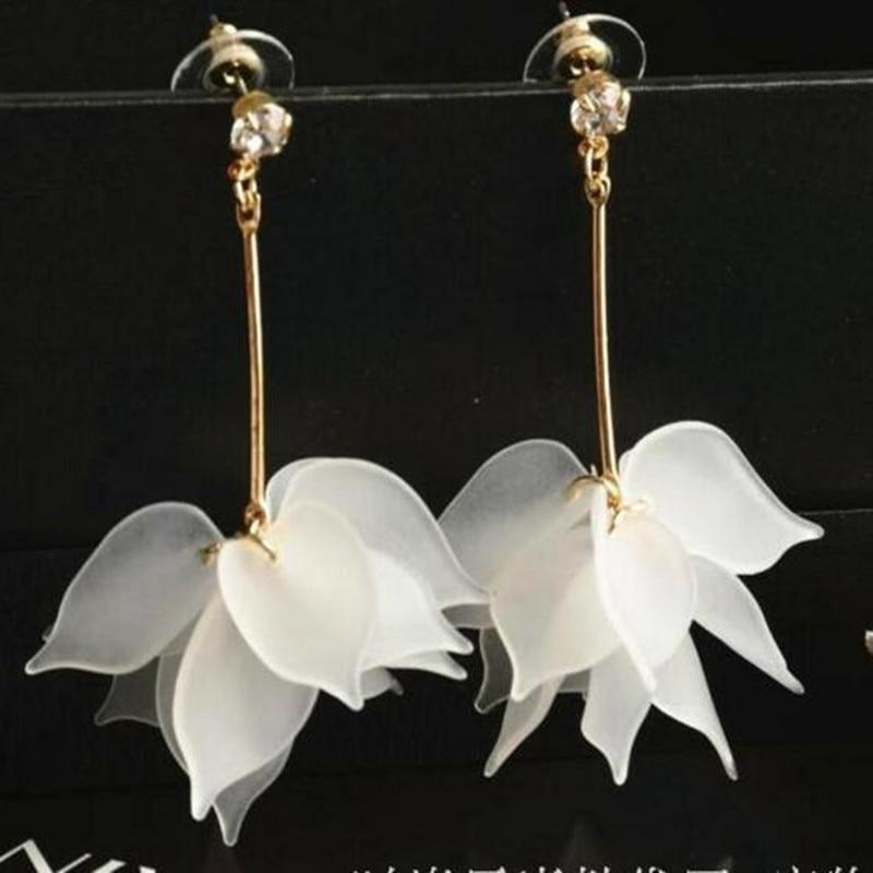 Brand-new Bovvsky Simple Elegant White Orange Big Flower Earrings For Women  RC05