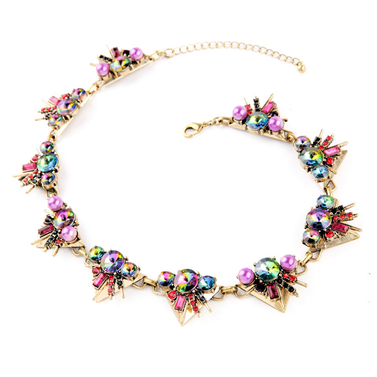Ms Noble Exaggeration and Easy Joker Colorful Necklace Collares Small Mixed Batch of Factory Outlets