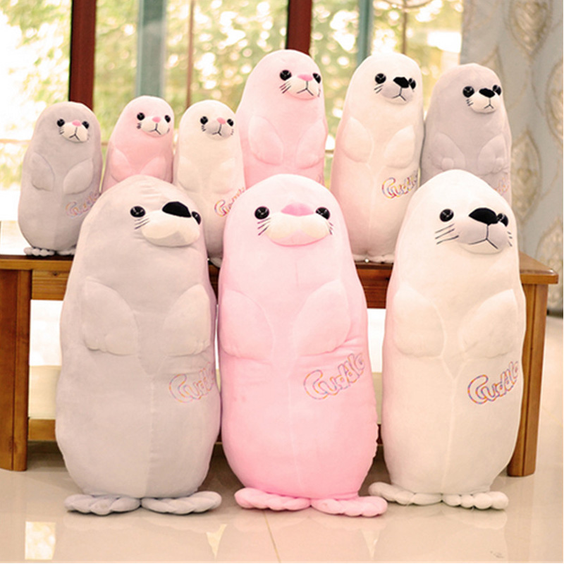 Fancytrader Soft Seal Plush Pillow Toy Large Stuffed Seal Animals Doll 31inch for Children Xmas Birthday Gifts stuffed plush animals large peter rabbit toy hare plush nano doll birthday gifts knuffel freddie toys for girls cotton 70a0528